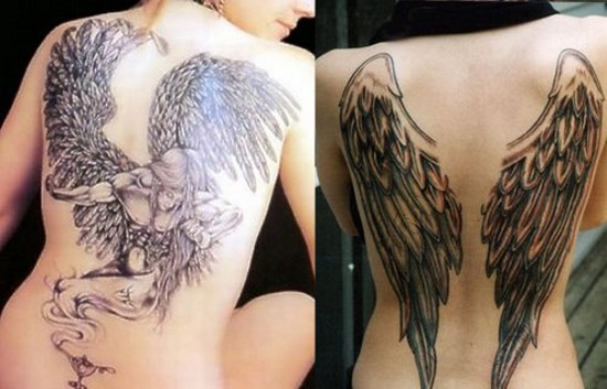 angel dog wing tattoos