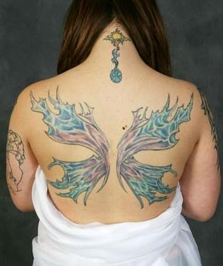 Angel Wings And Halo Tattoos Foot Tattoos Design