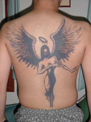 angels tattoo. Dark Angel Tattoo