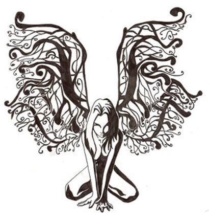 dark fairies tattoos. skull with butterfly wings tattoo lupus butterfly