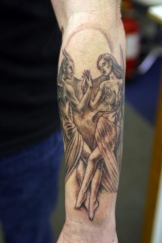 Angel of death tattoos foot tattoos design for Angel of death tattoo