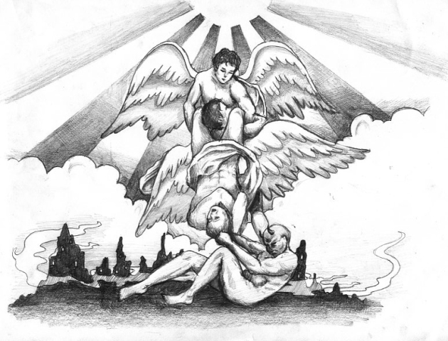 angel and demons tattoos