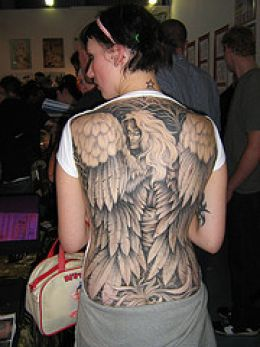 angel and devil tattoos