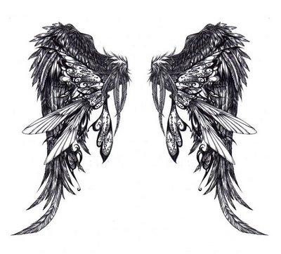 angel dog wing tattoos