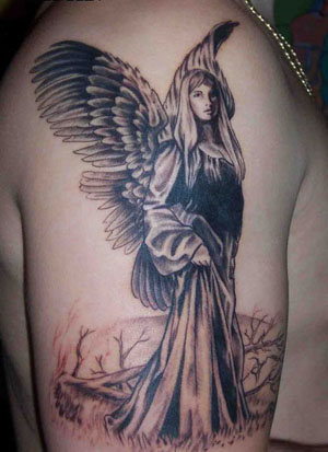 Getting an angel tattoo for men is surely going to set you apart.