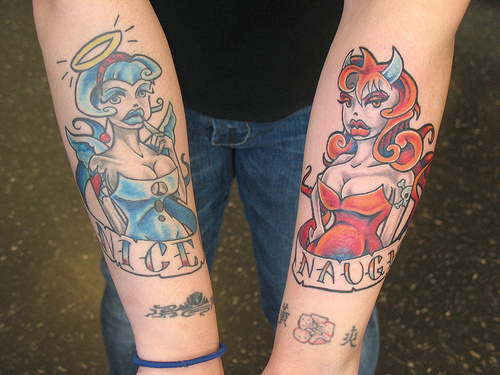 Image Result For Angel And Devil Pin Up Girl Tattoosa