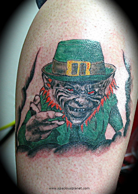 Leprechaun tattoos most commonly find their … Leprechaun Tattoos, Designs