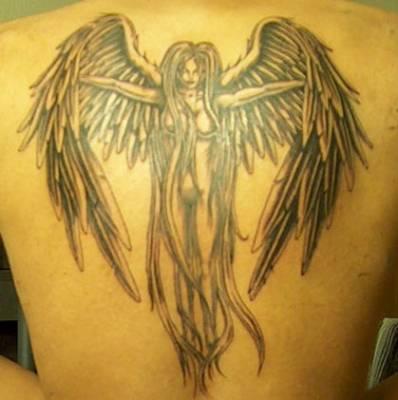 gothic angel tattoos. gothic angel tattoos