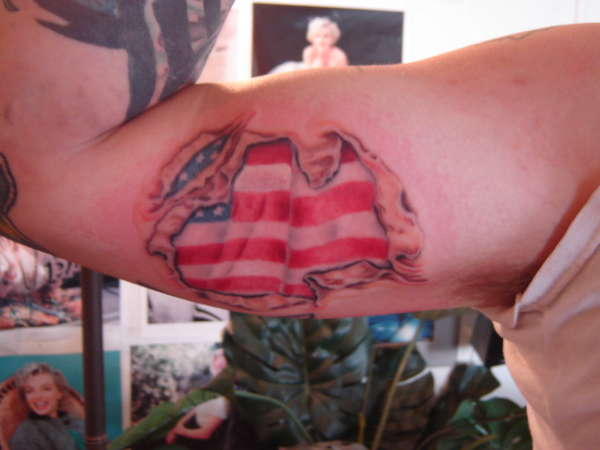 AMERICA FLAG TATTOO - patriotic tattoo ideas. AMERICA FLAG TATTOO
