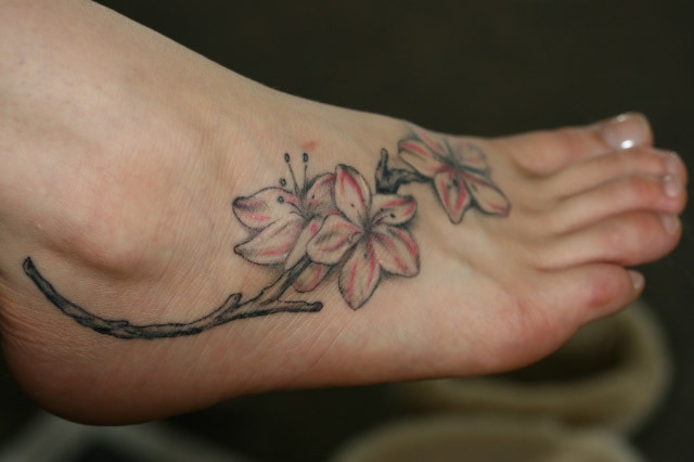 Horseshoe Tattoo On Foot. Girly swirly foot tattoo