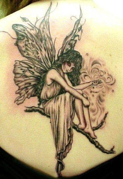 Cute Fairy Tattoos Angel Tattoo Pictures Free Angel and fairy