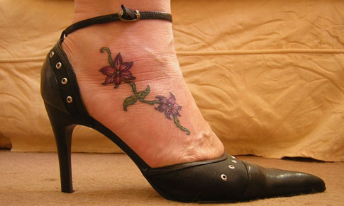 tattoos that look good on womans foot