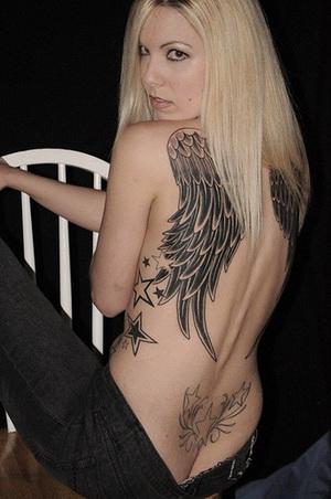 Tribal Tattoos Of Angel Wings | Tribal Angel Wing Tattoo Designs